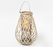 Barbara King 23 Wooden Lantern with Flameless Candle - M60625