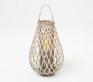 Barbara King 28 Wooden Lantern with Flameless Candle - M60626
