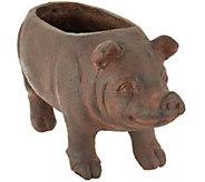 Brown Resin Piggy Planter - M51627