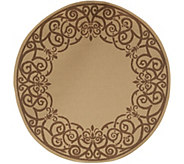 Veranda Living 78 Round Indoor/Outdoor Reversible Filigree Rug - M56927