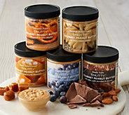 B.Nutty (5) 8-oz Jars of Gourmet Peanut Butter Assortment - M57530