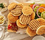 Charleston Gourmet Burger (12) 6-oz Marinated Turkey Burgers - M59830