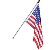 American Pride Tangle Free 6-1/2 Foot Flagpole with American Flag - M57235