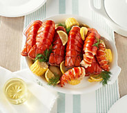Greenhead Lobster (24) 4-5-oz Lobster Tails with Skewers &Butter - M60235