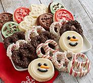 SH 11/5 Cheryls 20-pc Holiday Cookies & Gourme t Pretzels - M115336
