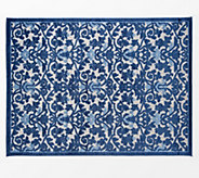 Nourison 710 x 910 Ironwork Damask Indoor/Outdoor Rug - M65036