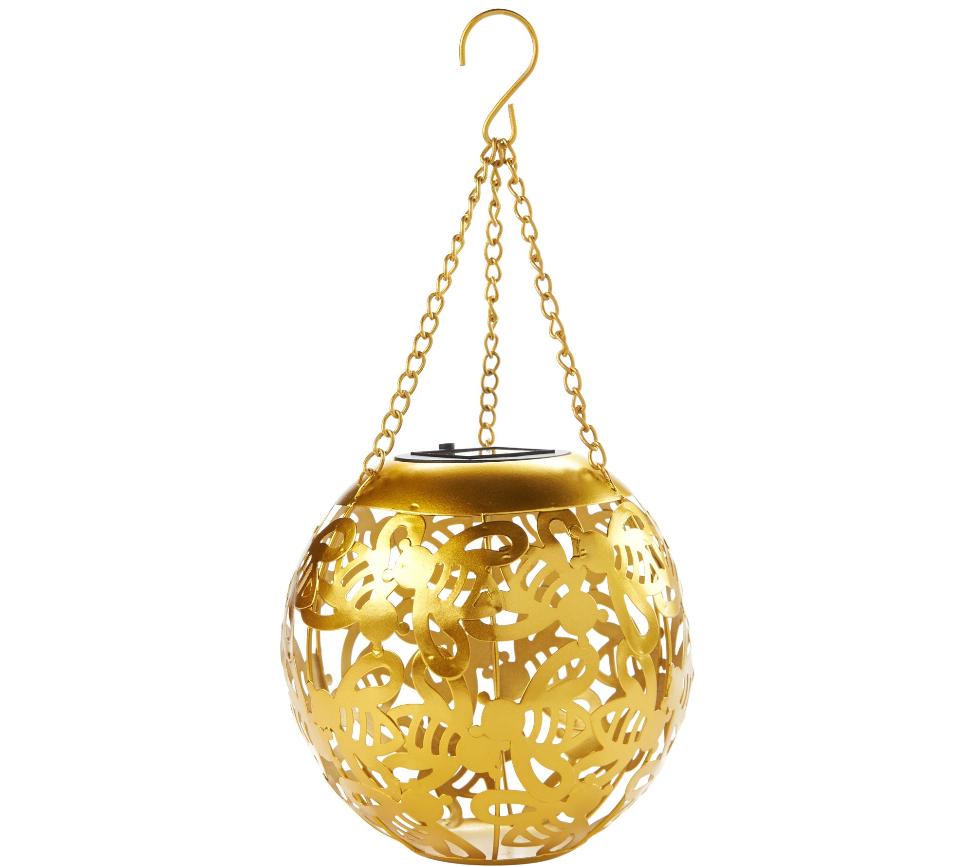 Solar LED Cutout Design Hanging Lantern by Evergreen - Page 1 — QVC.com