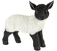 Plow & Hearth Resin Suffolk Lamb Garden Statue - M52338