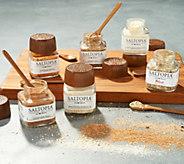 Saltopia (6) 3.4oz Savory Flavor Infused Sea Salt Collection - M56138