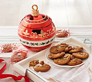 SH 12/3 Davids Cookies Holiday Ornament Cookie Jar with 16 Cookies - M60038