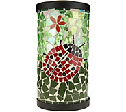 Plow & Hearth Solar Mosaic Glass Lantern - M52141