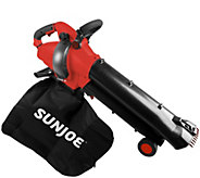 Sun Joe 12-Amp 3-in-1 Blower, Vacuum & Mulcher with Collection Bag - M59641