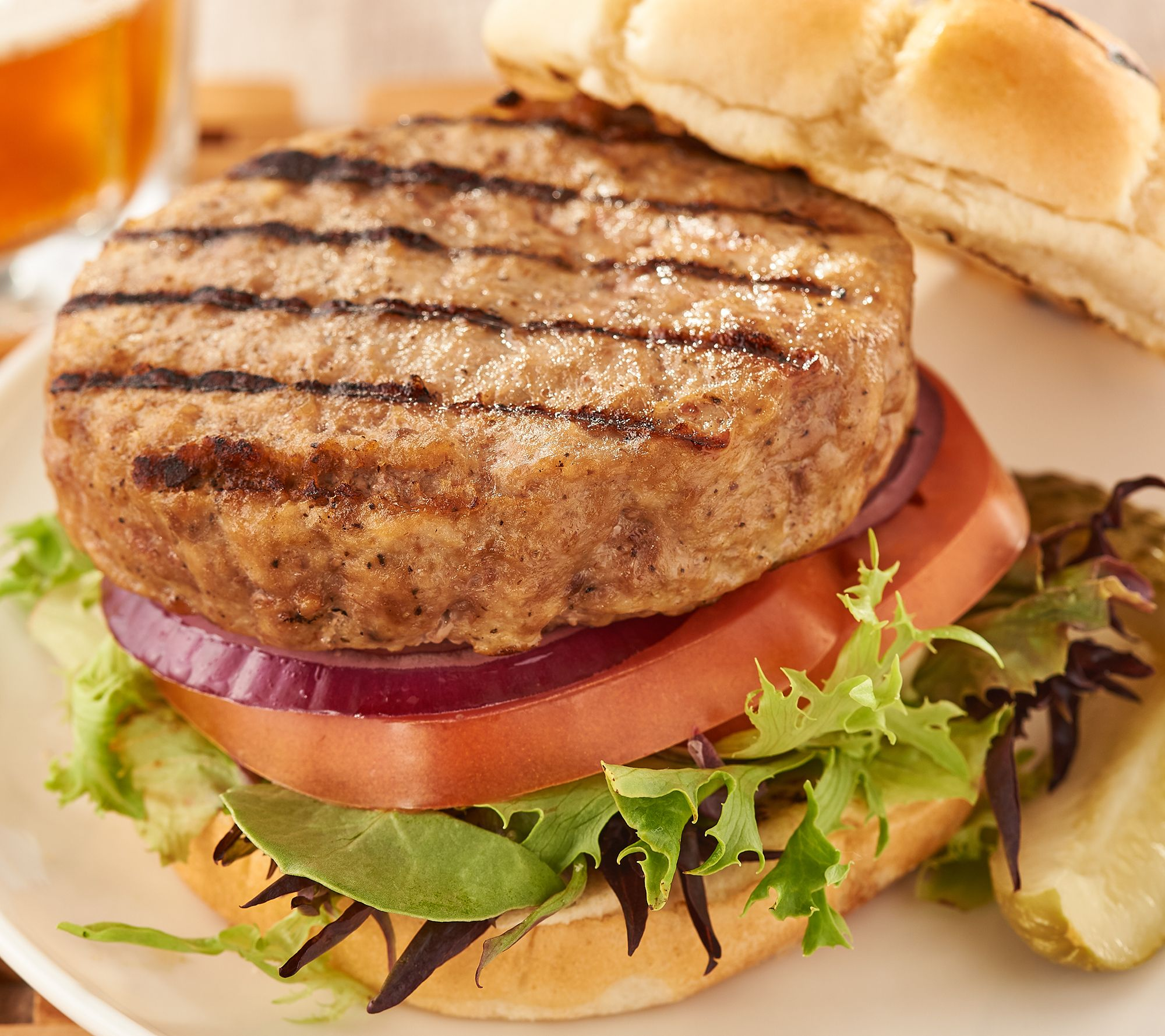 Red Top Farms 12 8 Oz Gourmet Berkshire Pork Patties Qvc Com