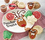 SH 12/3 Cheryls Reindeer Plate with 12 Cookies - M59643