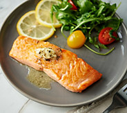 Egg Harbor (7) 5-oz Faroe Island Salmon Filets with Butter - M60543