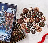 SH 12/3 Harry & David (2) 24-pc Holiday Truffles in Gift Boxes - M59344