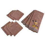 Don Asletts 10-Piece Microfiber Kitchen Towel & Cloth Set - M113545
