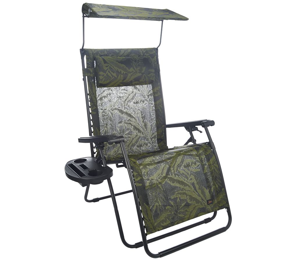 Bliss Hammocks Deluxe XL Gravity Free Recliner With Canopy U0026 Tray   Page 1  U2014 QVC.com