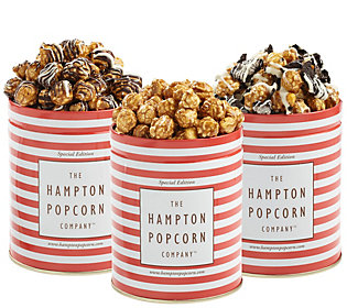 Hampton Popcorn Set of Three Sweet Popcorn
