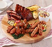 Corkys BBQ 9-lb Wings, Ribs, & Sausage Grilling Sampler - M59046