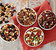 SH 11/5 Germack 6 Mini Jars of Assorted Holiday Nut Mixes - M59546