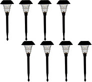 Duracell 8-Piece 10 Lumen Solar Landscape Light Set - M54047
