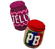Ware of the Dog Peanut Butter & Jelly HandknitDog Toys - M120348