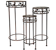 Barbara King Set of 3 Wrought Iron Nesting Tables - M51948