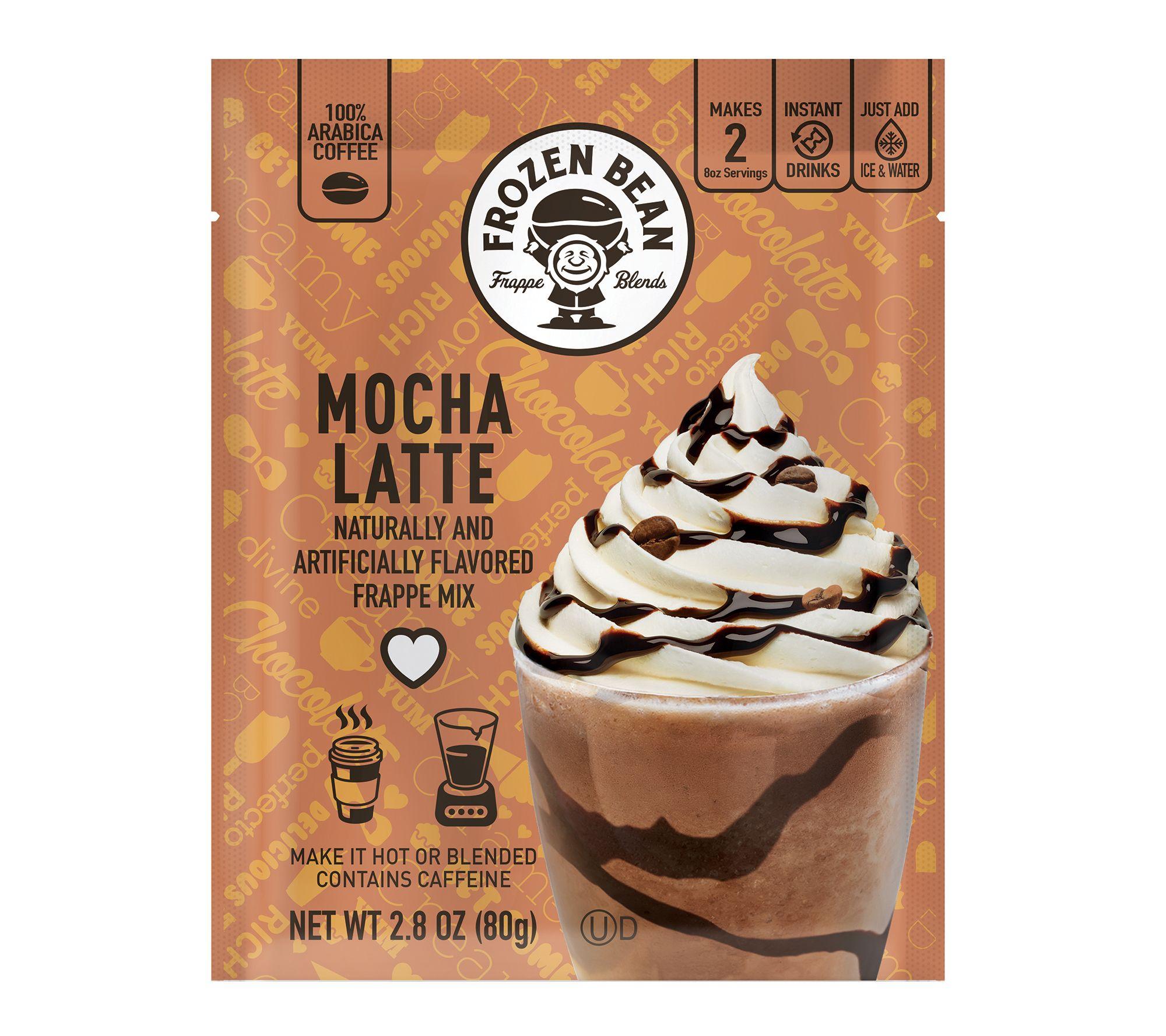 Frozen Bean 12 Ct Single Serve Mocha Latte Frappe Mix Qvc Com