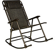 Bliss Hammocks Deluxe Foldable Rocking Chair with Headrest - M55650