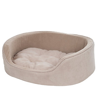 PETMAKER Small Cuddle Round Suede Pet Bed