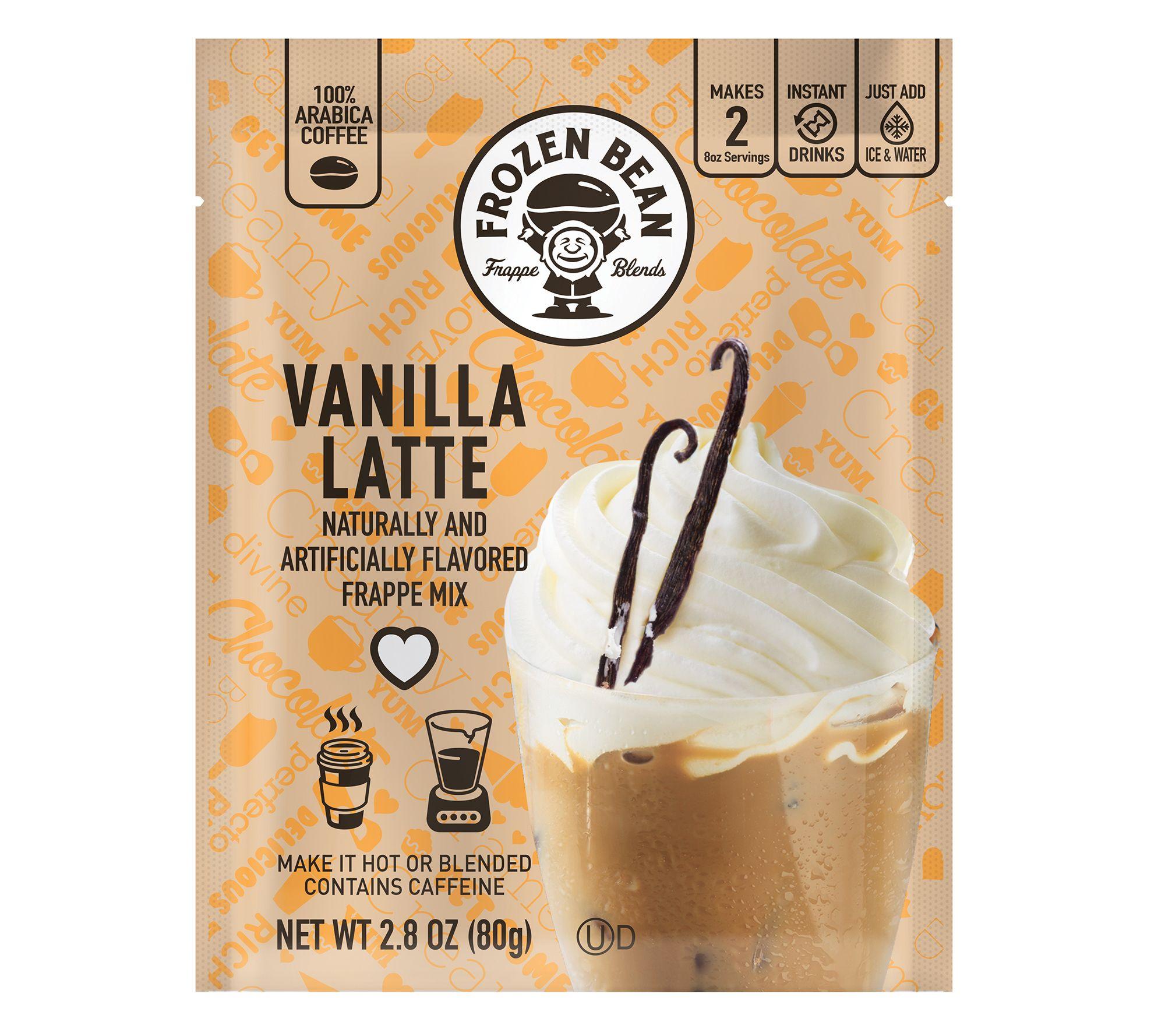 Frozen Bean 12 Ct Single Serve Vanilla Latte Frappe Mix Qvc Com
