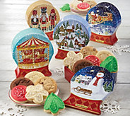 SH 11/5 Cheryls Set of 5 Holiday Snowglobe Tins - M59654