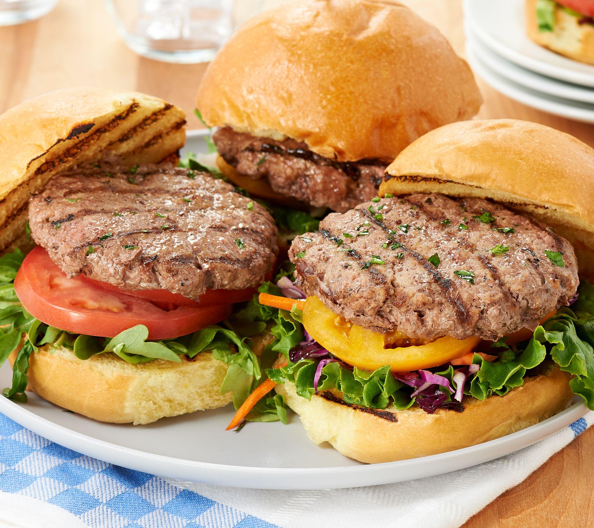 David Burke (20) 5-oz 55-Day Aged Angus Burgers with Sea Salt — QVC.com