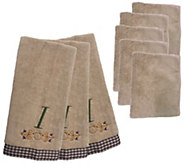 Don Asletts 8-Piece Monogram Kitchen Towel andCloth Set - M113555