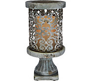 Barbara King 9 Cement Pillar with Flameless Candle - M51955