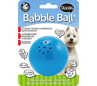 Pet Qwerks Medium Talking Babble Ball -