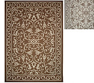 Veranda Living Indoor/Outdoor Reversible 7 x 10 Scroll Rug - M47856