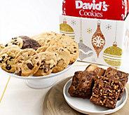 SH 11/5 Davids Cookies Glittering Ornaments Box Choc Chunk - M59756