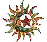 Plow & Hearth Talavera Sun & Moon Wall Art - M45458