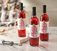 SH 12/3 Vintage Wine Estates Holiday Cheers 3 Bottle Wine Set - M60059