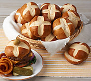 Prop and Peller (24) 3 oz. Bavarian Style Pretzel Burger Buns - M55061