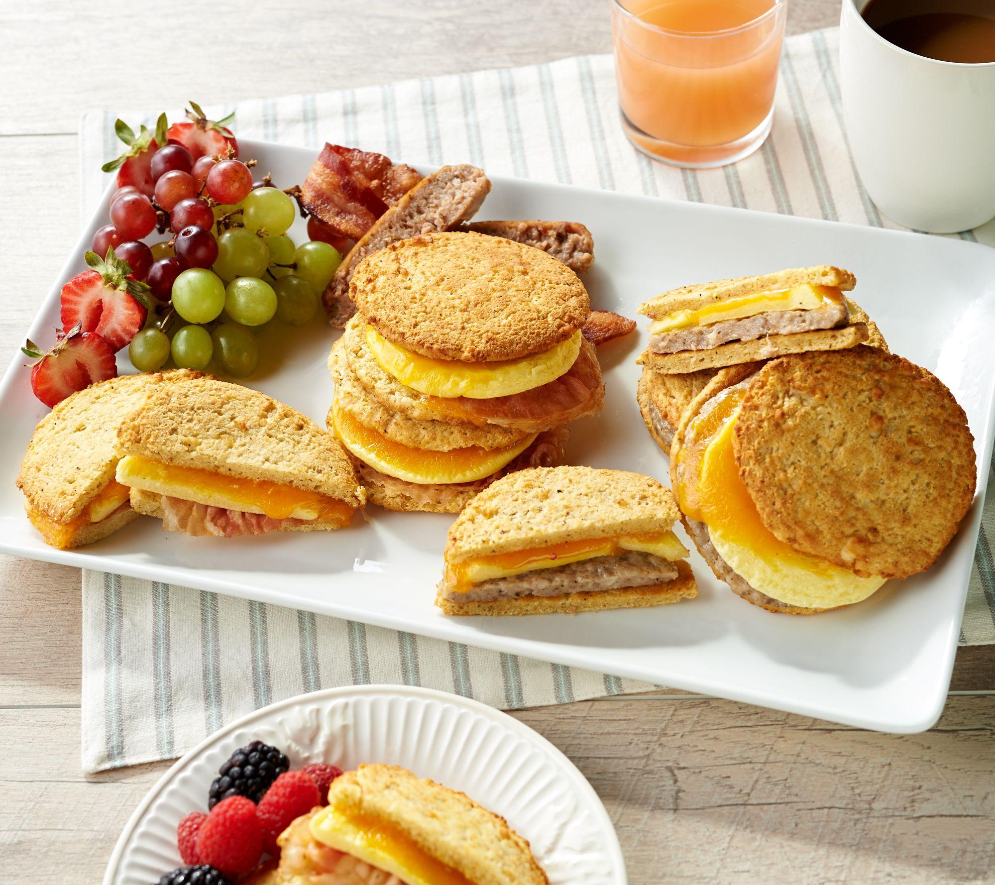 Real Good Foods 12 Cheesy Cauliflower Bread Breakfast ...