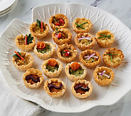 White Toque 48 Piece Veggie & Mediterranean Mini Quiche - M55564