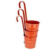 Barbara King Set of 3 Metal Bucket Hanging Planters - M55964