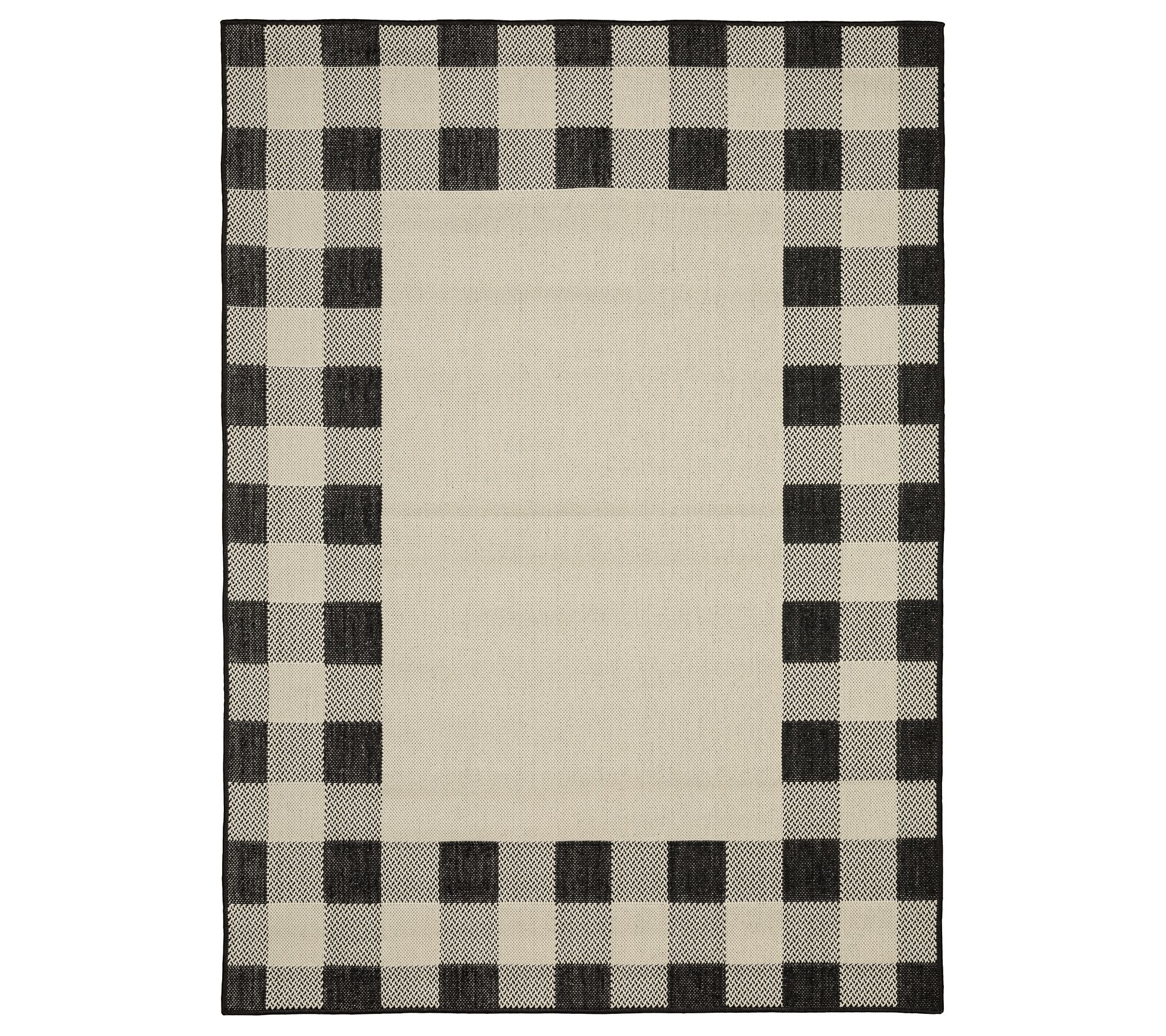 Farmhouse Plaid Indoor Outdoor Rug