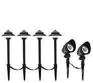 Maximus Low Voltage Light Set with 4 Path Lights & 2 Flood Lights - M56267