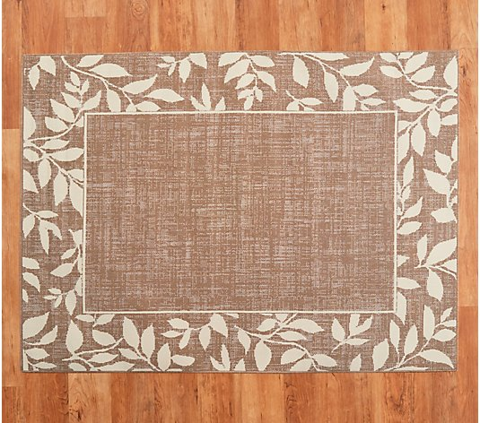 Botanical Border Indoor Outdoor Rug