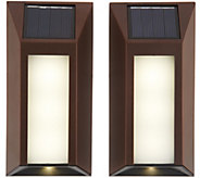 Paradise 2-Piece Edgelit Solar Surface Light Set - M55968