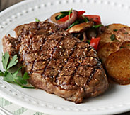 Rastelli Market Fresh (10) 10-oz Black Angus Ribeye Steaks - M58368